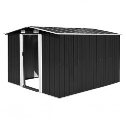 stradeXL Garden Shed 257x298x178 cm Metal Anthracite