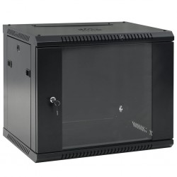 "stradeXL Ścienna szafka serwerowa (rack) 9U, 19"", IP20, 600x450x500 mm"