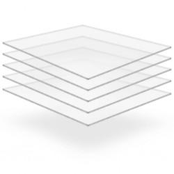 stradeXL Przezroczyste płyty akrylowe, 5 szt., 40 x 60 cm, 10 mm