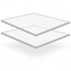 stradeXL Przezroczyste płyty akrylowe, 2 szt., 40 x 60 cm, 15 mm