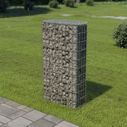 stradeXL Ściana gabionowa, stal galwanizowana, z pokrywą, 50x20x100 cm