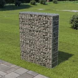 stradeXL Ściana gabionowa z pokrywami, stal galwanizowana, 80x20x100 cm