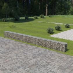 stradeXL Ściana gabionowa z pokrywami, galwanizowana stal, 600x30x50 cm