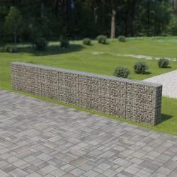 stradeXL Ściana gabionowa z pokrywami, galwanizowana stal, 600x30x100 cm