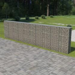 stradeXL Murek gabionowy z pokrywami, stal galwanizowana, 600x30x150 cm