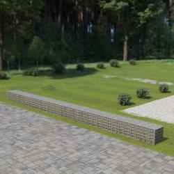 stradeXL Ściana gabionowa z pokrywami, galwanizowana stal, 900x50x50 cm