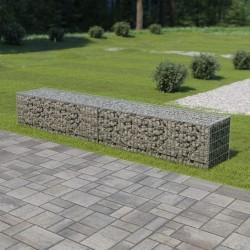 stradeXL Ściana gabionowa z pokrywami, galwanizowana stal, 300x50x50 cm