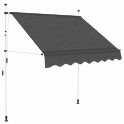 stradeXL Manual Retractable Awning 150 cm Anthracite