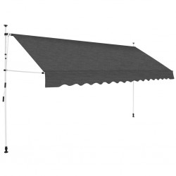 stradeXL Manual Retractable Awning 400 cm Anthracite