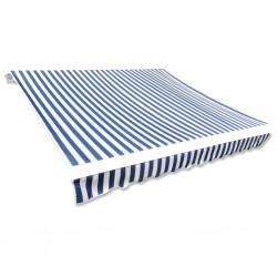 stradeXL Tkanina do markizy, niebiesko-biała, 350 x 250 cm