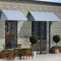 stradeXL Bistro Awning 300x120 cm Blue and White
