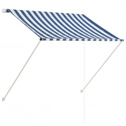 stradeXL Retractable Awning 150x150 cm Blue and White