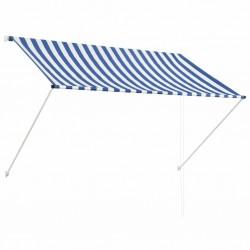 stradeXL Markiza zwijana, 200 x 150 cm, niebiesko-biała