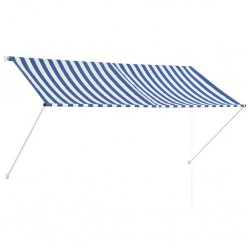 stradeXL Retractable Awning 250x150 cm Blue and White