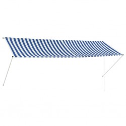 stradeXL Retractable Awning 350x150 cm Blue and White
