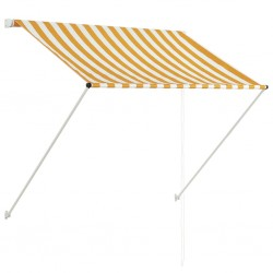 stradeXL Retractable Awning 150x150 cm Yellow and White