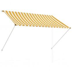 stradeXL Markiza zwijana, 200 x 150 cm, żółto-biała