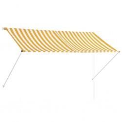 stradeXL Markiza zwijana, 250 x 150 cm, żółto-biała