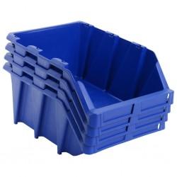 stradeXL Pojemniki sztaplowane, 20 szt., 265 x 420 x 178 mm, niebieskie