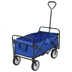 stradeXL Składany wózek ręczny, stalowy, niebieski