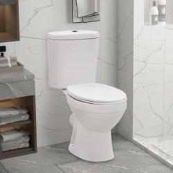 stradeXL Toaleta stojąca ze zbiornikiem, ciche zamykanie, ceramika biała