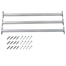 stradeXL Regulowane barierki zabezpieczające okno, 3 szt., 710-1200 mm
