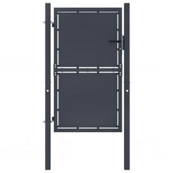 stradeXL Furtka ogrodzeniowa, stalowa, 100 x 150 cm, antracytowa