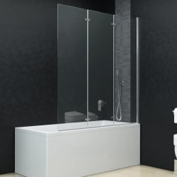 stradeXL Składana kabina prysznicowa, 3 panele, ESG, 130 x 138 cm