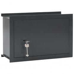stradeXL Wall Safe Dark Grey 49x19.5x32 cm
