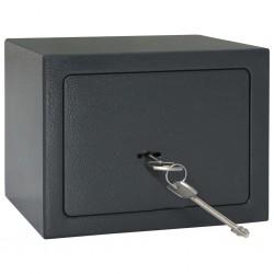 stradeXL Mechanical Safe Dark Grey 23x17x17 cm Steel