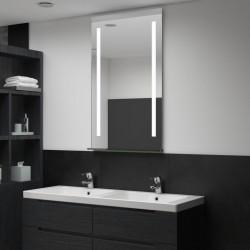 stradeXL Ścienne lustro łazienkowe z LED, z półką, 60 x 100 cm
