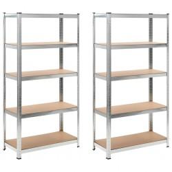 stradeXL Storage Shelves 2 pcs 90x40x180 cm MDF