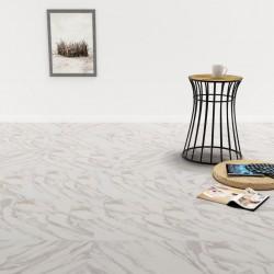 stradeXL Samoprzylepne panele podłogowe z PVC, 5,11 m², biały marmur