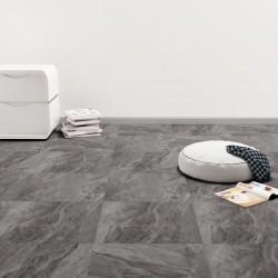 stradeXL Samoprzylepne panele podłogowe z PVC, 5,11 m², czarne ze wzorem