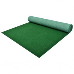 stradeXL Artificial Grass with Studs PP 5x1.33 m Green