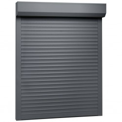 stradeXL Roleta zewnętrzna, aluminiowa, 110 x 130 cm, antracytowa