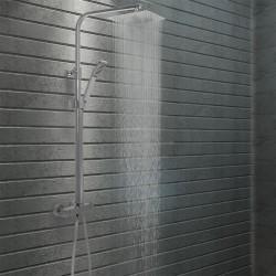 stradeXL Prysznic z deszczownicą i słuchawką, termostat, stal nierdzewna