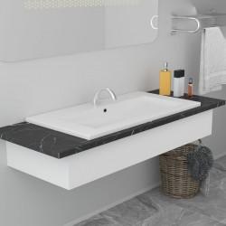 stradeXL Umywalka wpuszczana, 91 x 39,5 x 18,5 cm, ceramiczna, biała