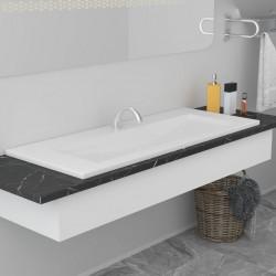 stradeXL Umywalka wpuszczana, 101 x 39,5 x 18,5 cm, ceramiczna, biała