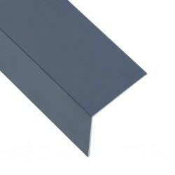 stradeXL Kątowniki, 5 szt., aluminiowe, antracytowe, 170 cm, 50x50 mm