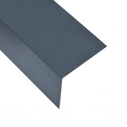 stradeXL Kątowniki, 5 szt., aluminiowe, antracytowe, 170 cm, 100x100 mm