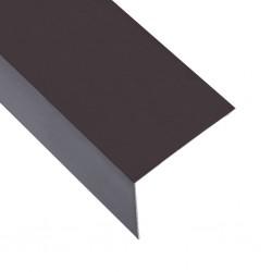 stradeXL Kątowniki, 5 szt., aluminiowe, brązowe, 170 cm, 50x50 mm
