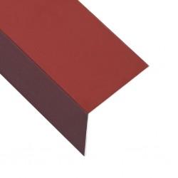 stradeXL Kątowniki, 5 szt., aluminiowe, czerwone, 170 cm, 100x100 mm