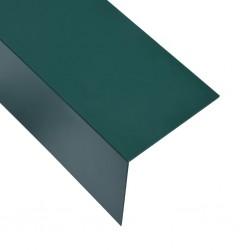 stradeXL Kątowniki, 5 szt., aluminiowe, zielone, 170 cm, 100x100 mm