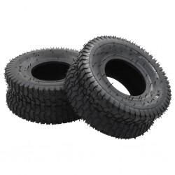 stradeXL 4 Piece Wheelbarrow Tire and Inner Tube Set 15x6.00-6 4PR Rubber