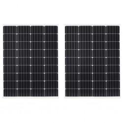 stradeXL Panele słoneczne 2 szt. 100 W monokrystaliczne, aluminium/szkło