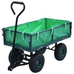 stradeXL Ogrodowy wózek ręczny, zielony, 250 kg