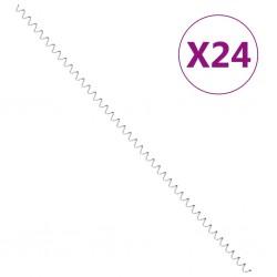 stradeXL Spirale do gabionów, 24 szt., galwanizowana stal, 100 cm