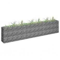 stradeXL Gabion Raised Bed Galvanised Steel 270x30x60 cm
