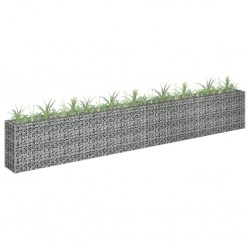 stradeXL Gabion Raised Bed Galvanised Steel 360x30x60 cm